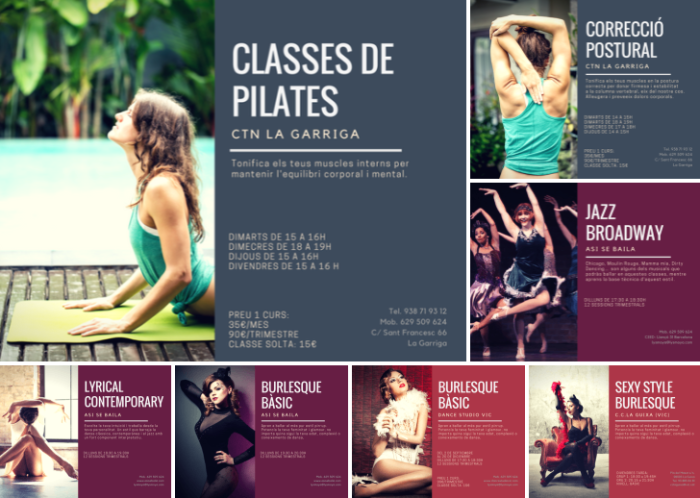 lyrical contempo, jazz broadway, burlesque, pilates y corrección postural