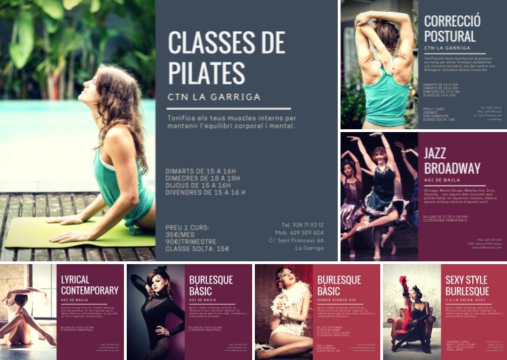 lyrical contempo, jazz broadway, burlesque, pilates y corrección postural