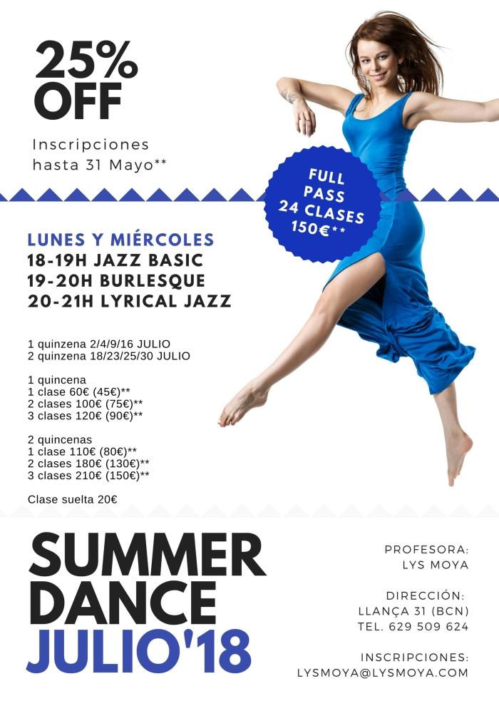 Clases de danza Barcelona Julio 2108