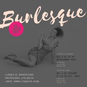 Clases de danza en Barcelona. Burlesque con Lys Moya